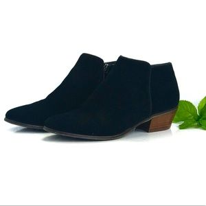 Crown Vintage Suede Leather black Ankle Bootie 7.5